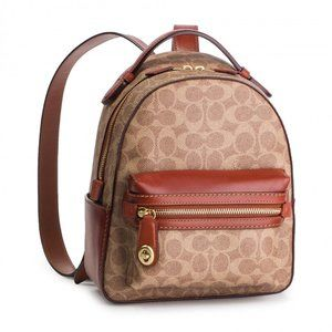 Coach Signature Campus Backpack 23 Leather Casual